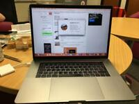 """MacBook 2017 model, 15"""" space grey , £2,150 including dual English/Arabic keyboard with touch pad"""