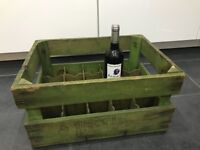 Original French Perrier wooden crate