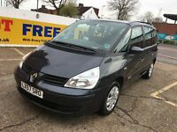 2007 RENAULT ESPACE 2.0 PETROL 6 SPEED MANUAL 7 SEATER 77 000 MILES