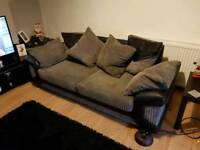 Grey and black couch