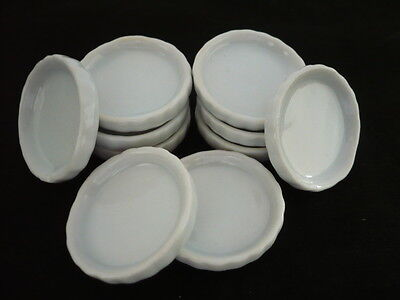10x25 mm White Pan/Tray  Dollhouse Miniatures Ceramic Supply Deco
