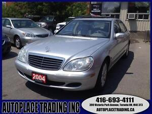 2004 MERCEDES BENZ S500 4MATIC WITH NAVIGATION