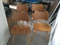4 Butterfly Ercol chairs
