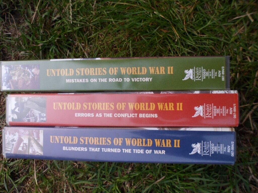 Set of 3 untold stories of WW2 videos and 3 line of fire