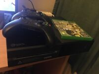 Xbox one W/ FIFA 17 and extra controller with original box
