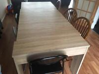 Oak Table, chairs not included!