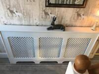 White painted large radiator cover