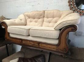 Gorgeous 2 seater fabric sofa