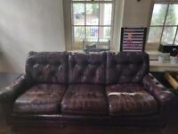 *Free* Chesterfield-style real leather sofa