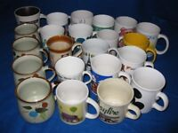 A JOB LOT OF MUGS