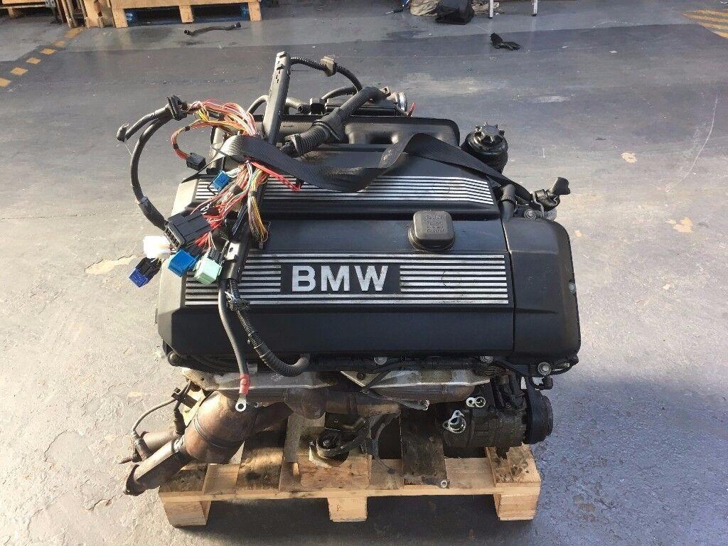 bmw e46 3 series m54b25 325i 2 5 engine motor complete 2. Black Bedroom Furniture Sets. Home Design Ideas
