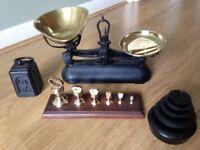 Vintage weighing scales & weights