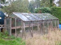 Greenhouse - free to good home 3m wide, 5m long and 2.2m high
