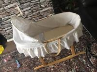 Baby Moses crib basket with stand