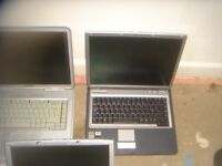 3 lap tops and 2 pc towers