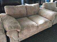 New/Ex Display Dfs Cord 2 Seater Sofabed + 1 Seater Chair + 1 Seater chair