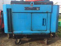 6 KVA diesel generator silenced, Yanmar, 240/110 volt low hours
