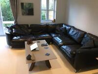 Luxury leather corner sofa