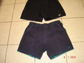 Black and Navy Swimming Trunks