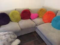 Sofology. Right hand corner sofa. Six months old as new. Paid £860.