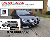 HAD AN ACCIDENT GET YOUR PCO TAXI UBER APPROVED HIRE RENT CAR WITHIN 1 HOUR WE DEAL WITH INSURANCE