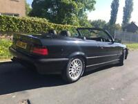 Gorgeous Convertible BMW 325 i e36 Black with Black Leather