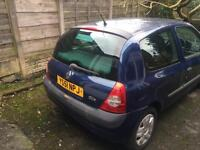 2002 Clio authentic (reduced from £650).