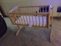 Ex Mothercare Swinging Crib