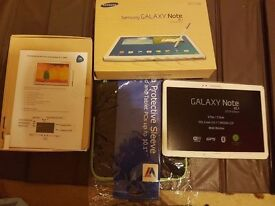 "Samsung tablet 10.1 "" with proof of purchase and all accessories"