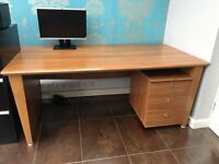 Office furniture - executive standard. Very high quality desk, drawers and cupboard in cherry wood