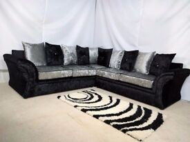 BRAND NEW SOFA 3+2 SEATER VEGAS OR CORNER UNIT ''ONE YEAR WARRANTY''
