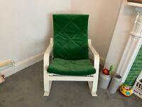 IKEA POÄNG Rocking-chair in Green/White