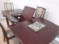 Extendable Dining table and four chairs £50
