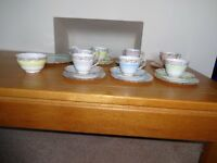 Colclough Vintage Bone China Harlequin 21 pieceTea Set
