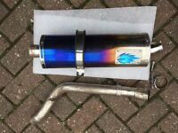 Blue Flame Chrome Evo Motorcycle Exhaust honda hornet 600cc f4