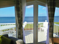 *Sensational Sea Views* BEACHFRONT Platinum Caravan for hire. Craig Tara Ayrshire Scotland