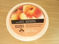 NEW MARKS AND SPENCER PEACH AND ALMOND BODY BUTTER 200ML