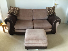 2 x 2 Seater settees plus Footstool