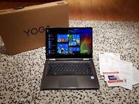 "Yoga Lenovo 710 Black - 14"", Intel - i7 2.5Ghz (3.0 turbo) 256GB SSD, 8GB RAM, Windows 10"