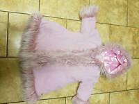 Sulk by little darlings pink girls coat 4-5 years fur
