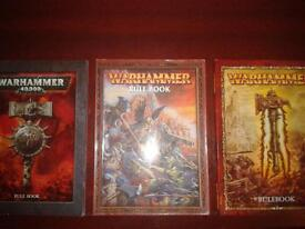 warhammer and 40k rule books £10 each or all 3 for £25