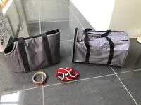Pets at Home x2 puppy/small dog carriers, XS harness & Ralph & Co. collar