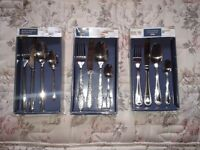 16 piece stainless cutlery set. And colour handle sets