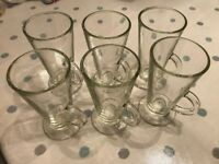 6x Ikea Beprovad latte glasses