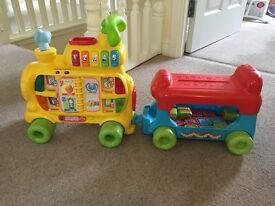 Push and ride alphabet train educational toy
