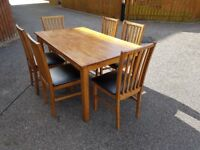 Solid Darkwood Extending Table & 6 Matching Chairs FREE DELIVERY 576
