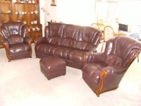 SOFA THREE SEATER AND ARM CHAIR