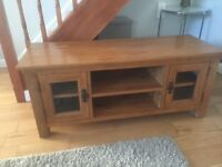 Oak TV cabinet...used condition