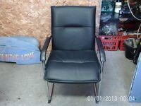 office chair leather&chrome