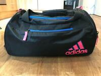 Ladies ADIDAS black and pink duffle gym, travel bag